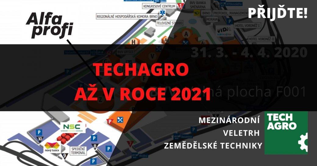TECHAGRO v roce 2020 se ruší